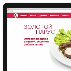 "Website and leaflet creation for the ""Zolotoi Parus"" company"